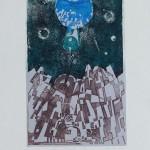А. Дембо. Космос и мы. Планеты. 50 х 32.5. Офорт. 1976